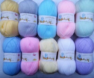 James C Brett 4ply Baby Wool 100g Super Soft 100% Acrylic Knitting Crochet Yarn