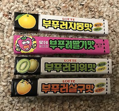 Lotte Chewing Gum Lot Of 4 Unopened Packs
