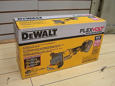 "Dewalt DCG414T1 Grinder Kit 60 Volt 60v 1 Battery W/ Kickback Brake 4-1/2"" - 6"""