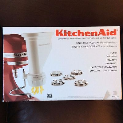 KitchenAid KSMPEXTA Gourmet Pasta Press Attachment with 6 Interchangeable Pasta