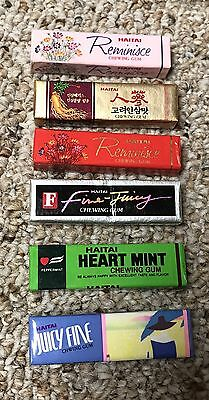 Haitai Chewing Gum Lot Of 6 Unopened Packs