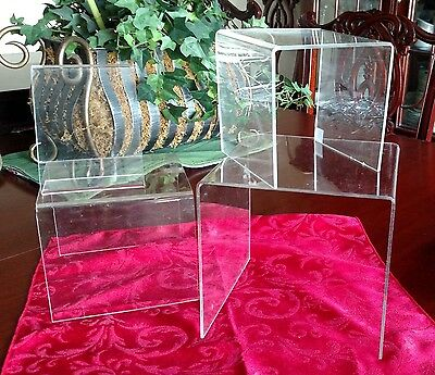 Acrylic Stands Risers Display Lot of 4 Clear