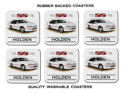 95'  96'  Holden  Vs  Ss  Commodore V8  Set Of  6   Rubber Drink  Coasters