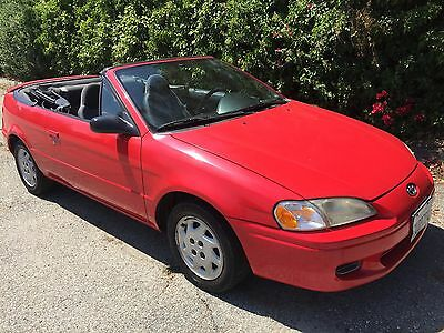1997 Toyota Paseo CONVERTIBLE ASC CORROSION FREE CLASSIC RARE PASEO 5 SPEED SOUTHERN CALIFORNIA #833 LIMITED PROD.