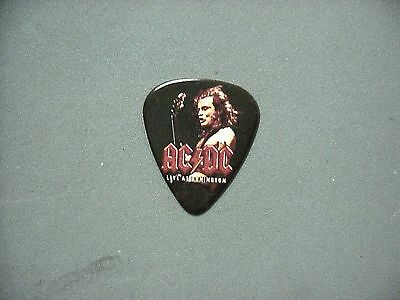 AC/DC guitar pick Live at Donnington and full color picture of Angus!