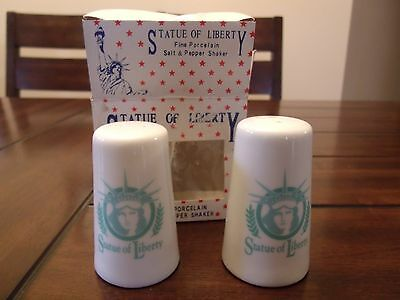 Statue Of Liberty Fine Porcelain Salt & Pepper Shakers