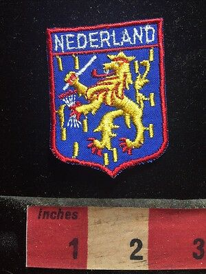 Vtg Heraldry / Coat Of Arms The Netherlands Patch BENELUX Nation C75D