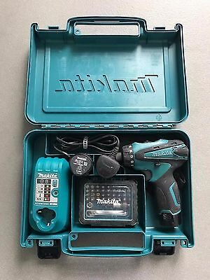 MAKITA DF030DWE 10.8v CORDLESS DRILL DRIVER WITH CASE, 2 x BATTERIES, CHARGER &