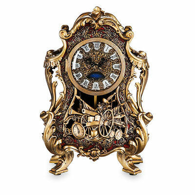 Disney Beauty And The Beast Live Action Movie Ltd Edition Cogsworth Clock