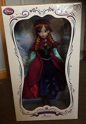 """Disney Limited Edition 17"""" Snow Gear Anna Doll (1 of 5000) Frozen"""