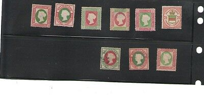HELIGOLAND 1867-1876 lot of nine stamps