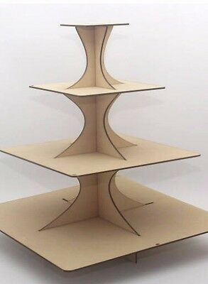 3 Tier Wooden Cupcake Stand Tower 3 Choices