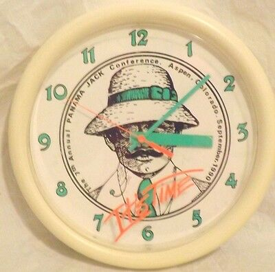 Vtg 1990 Panama Jack Advertising Clock 7th Annual Conference Aspen CO Colorado