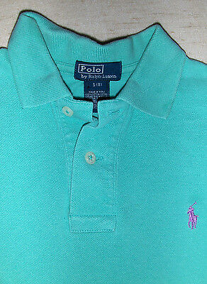 POLO by RALPH LAUREN Shirt - Sz S 8 BOYS - Green Pony Logo Short Sleeve KIDS