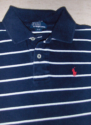 POLO by RALPH LAUREN Shirt - Sz S 8 BOYS - Navy Blue Pony Logo Short Sleeve KIDS