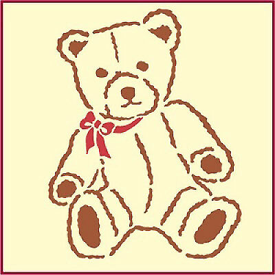 Child/'s Room Wall-Cards-Picture A5 A4 A3 A2 A1 A0  #TEDS002 Teddy Bear stencil