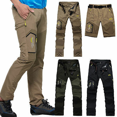 Outdoor Mens Waterproof Breathable Pant Removable Hiking Quick Drying Trousers