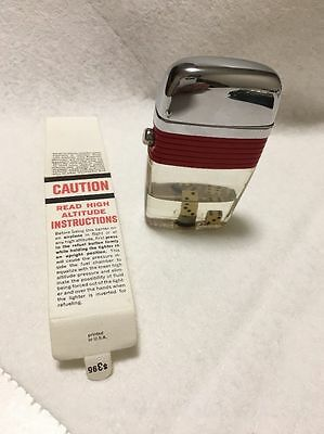Scripto VU Lighter, DICE. Mint Condition! Very rare Red Band with Dice Combo!