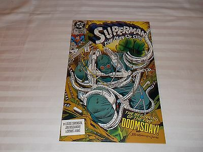 Superman Man Of Steel #18 1St App Of Doomsday 2Nd Print