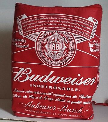 New Budweiser 24 Can Insulated Beer Backpack Bag