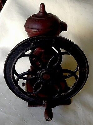Antique Vintage Cast Iron Japanese Coffee Grinder Or Grain Mill