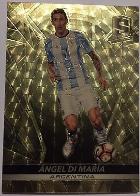 2016-17 Panini Spectra Soccer Angel Di Maria Argentina No.43 Gold Refractor #1/1