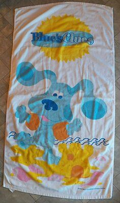 Vintage BLUE'S CLUES BEACH TOWEL~Bath Towel/Swimming/Vacation/Terry