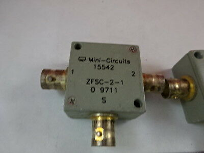 Mini Circuits Zfsc-2-1 Power Splitter Rf Frequency Microwave As Is &j7-B-08