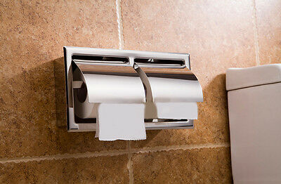 New Wall Mounted Bathroom Waterproof Toilet Double Roll Paper Tissue Box Holder