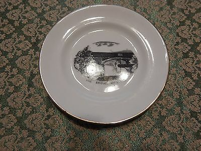 """Royal Stafford Plate feature """"The Bridge"""" Woodend"""