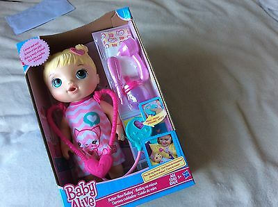Baby Alive doll better now bailey  blonde  new boxed