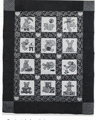 Teddy Bear Quilt Pattern - 58in x 72in - 0030