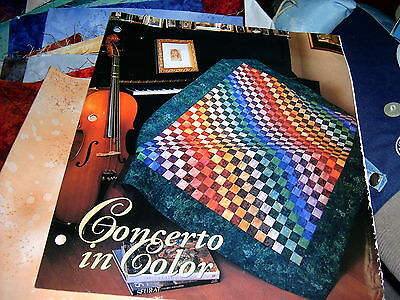 Concerto in Color Lap-size Quilt Kit - includes pattern and fabric