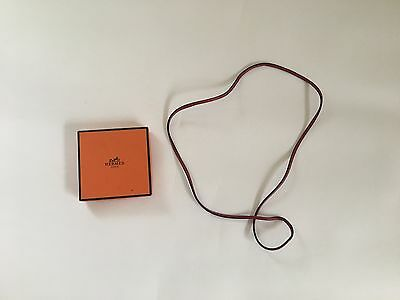 HERMES Leather Necklace & Bracelet with Box