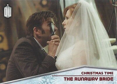 CHRISTMAS TIME CT-2 Runaway Bride 10th Donna Foil Chase Doctor Who 2015 Topps