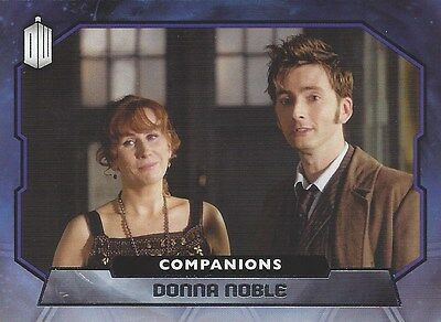COMPANIONS C-6 Donna Noble Catherine Tate 10th Foil Chase Doctor Who 2015 Topps