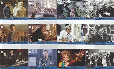 D-1 through D-12 Who is the Doctor Complete Set Foil Chase Doctor Who 2015 Topps