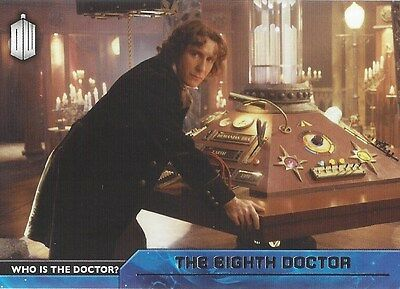 D-8 8th Eighth / Paul McGann Who is the Doctor Foil Chase Doctor Who 2015 Topps