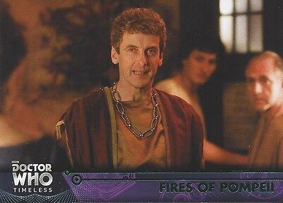 GREEN Parallel 60 Fires of Pompeii 10th Donna Doctor Who Timeless 2016 Topps