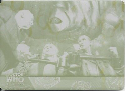 PRINTING PLATE Yellow Basic 41 Base The Long Game Doctor Who Timeless 2016 Topps