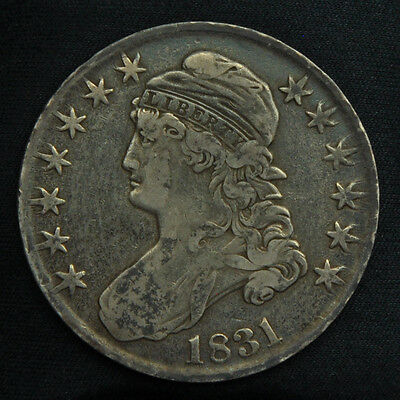 1831 Capped Bust Silver Half Dollar -- High Grade, Original Surfaces
