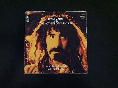 FRANK ZAPPA. TEARS BEGAN TO FALL 45 Rpm Italy 1972