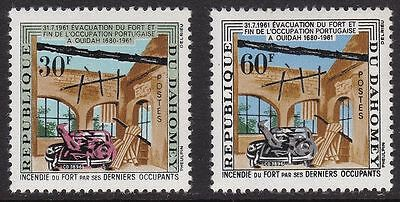 DAHOMEY, SC 153-54, 1962 Ruins of Fort Ouidah issue, set of 2. MOGH