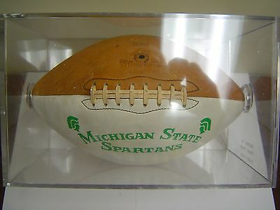 1966 undefeated (9–0–1) Michigan State Spartans signed presentation football