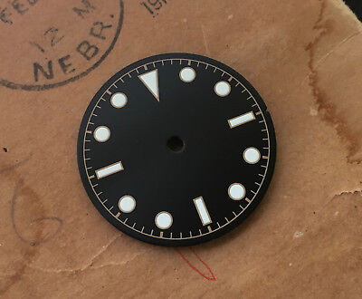 Bond Milsub Watch Gilt Dial for 7S26 NH35  Movement White Lume