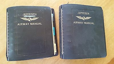 "2 Jeppesen Airway Chart Manual Bonded Leather 2"" Binders"