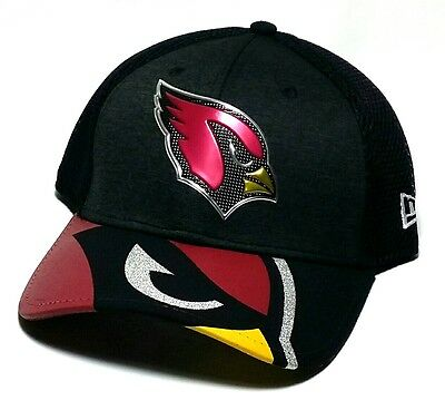 f8d9e4d3eb2 Arizona Cardinals AZ New Era 39thirty Draft Black Red Neo Flex Fitted Hat  Cap