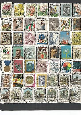Italy 50 Used Stamps , Nice Lot ,See Scan.