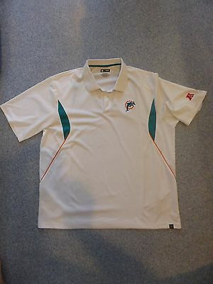 NFL Team Apparel MIAMI DOLPHINS American Football POLO SHIRT Jersey Golf Top 2XL