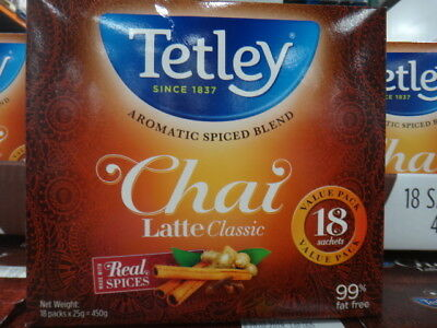 NEW Tetley Chai Classic 18 Sachet 450G from Fairdinks